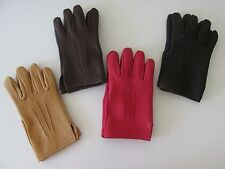 SOFT DEERSKIN LEATHER DRIVING GLOVES - 5 COLORS TO CHOOSE FROM - MADE IN THE USA