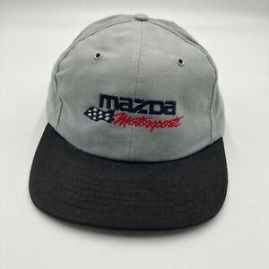 Vintage Mazda Motorsports 1996 SCCA National Runoffs Hat Cap Gray Snap Back