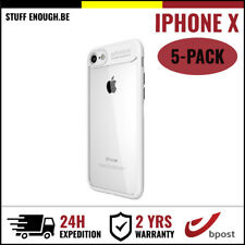 5IN1 Focus Cover Cas Coque Etui Silicon TPU Hoesje Case Black For iPhone X White