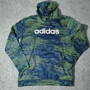 Adidas Jumper Kids X LARGE Blue Hooded Long Sleeve Size XL Hoodie Pullover
