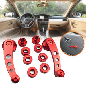 Pair Aluminum Car Window Shake Van Modified Glass Manual Lifter Hand Crank Parts