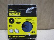 Dewalt DT3213 125mm fibre HD sanding discs 80G pk25 for angle grinder metal