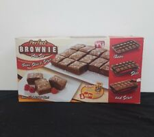 Perfect Brownie Pan Set Bake Slice Serve 10 Decorative Stencils Ships Free