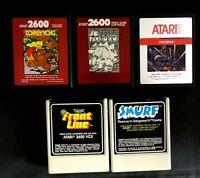Vintage Atari 2600 Game Cartridge Lot Of 5 Front Line Smurf Donkey Kong More