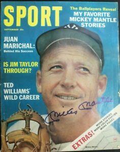 Mickey Mantle (d.1995) HOF Signed Autographed Magazine Sept 1964 SPORT JSA 10