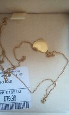 9ct Gold Necklace Pendant heart used just one time, 40cm
