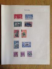 Ceylon pre & post war postage stamps