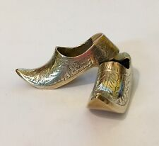 Antique Indian Brass Miniature Slippers Shoes Ornaments
