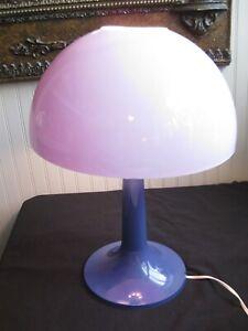 Vintage Mid Century Retro Purple Mushroom Lamp