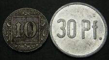 GERMANY 10, 30 Pfennig ND/1918 - Notgeld - 2 Coins. - 1323