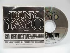 Tony Yayo of G Unit Feat. 50 Cent ♫ So Seductive ♫ 3 Track DJ PROMO CD ♫
