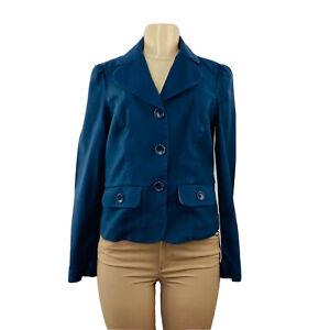 Tommy Hilfiger Stretch Button-up Navy Blue Blazer Jacket, Womens SZ S, SB100708i