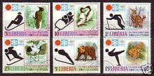 Liberia 1972 JAPAN Sapporo 72 Olympic Games Bear Elk USED SET