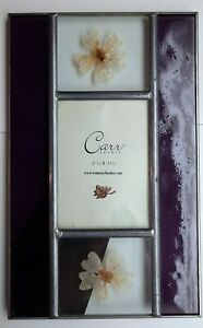 """CARR Welded Metal Pressed Flowers Picture Frame 5"""" x 8"""" For 2.5""""x3.5"""" Photo"""