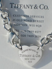 Tiffany & Co Return To Tiffany Heart Tag Choker Necklace in Sterling Silver