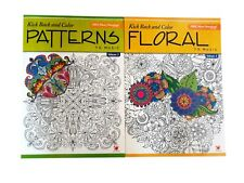 Patterns & Floral Adult Coloring Book Color to Music Series Books Set of 2 NEW