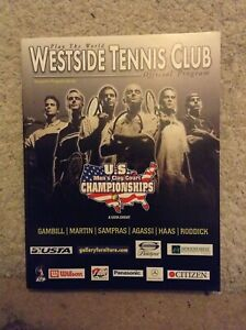 2002 US Mens Clay Court Championships Programme: Mens Tennis: Signed/Autographed