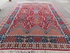 Old Traditional Hand Made Turkish Rug Oriental Wool Red Large Carpet 390x298m
