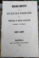 1848 STATUTO DELLE SCUOLE PER FANCIULLI E FANCIULLE DEL REGNO DI NAPOLI