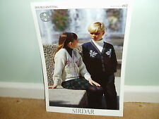Sirdar knitting pattern for childs cardigan - 4802 - NEW