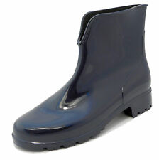 Ladies Womens Stormwells Blue Shiny Ankle Wellies Wellington Boots Sizes 3-9