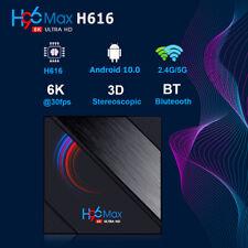 H96 Max Quad Core 6K HD Smart TV Box Android 10.0 Double WIFI Wireless 4+64G