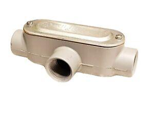"KILLARK OT-2CG, Aluminum Conduit Body w/ Cover & Gasket 3/4"" T-Style"