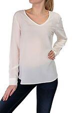 Lockre Sitzende Damenblusen,-Tops & -Shirts mit V-Ausschnitt und Seide ohne Mehrstückpackung