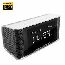 CAMXSW HD 1080P Hidden Spy Camera Alarm Clock FM Radio Speaker / Motion Activate