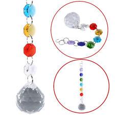 Clear Crystal Ball Suncatcher Prisms Pendant Pendulum Rainbow Wedding Decor Gift