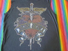 bon JOVI RARE PAPER THIN MUSCLE SHIRT DISTRESSED DESIGNER SHIRT MED ROCK AND ROL