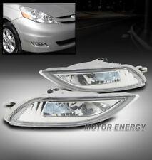 06-10 TOYOTA SIENNA BUMPER DRIVING LED FOG LIGHT LAMP CHROME LEFT+RIGHT PAIR SET