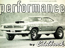 1970 PLYMOUTH BARRACUDA EDELBROCK INTAKE MANIFOLD AD-383/440/426 Hemi v8 engine