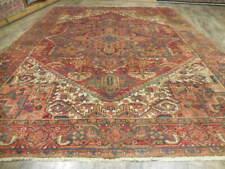 C1930 Vg Dy Caucasian Antique Karache Serapi Heriz Viss 8.4x11 Estate Sale Rug