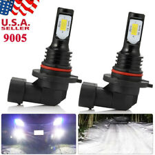 9005 LED Headlight Bulbs Kit High Low Beam 100W 8000LM Super Bright 6500K White