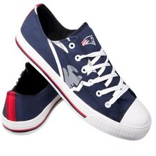 New England Patriots Mens 9 Shoes Sneakers FOCO Low Tops Canvas Navy Lace Up 4c050b97e