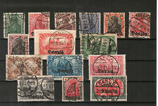 H18375 Danzig Mi. Nr. 1 - 15  gestempelt  z. T.  geprüft