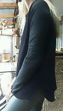 Scanlan Theodore Leather Sleeve Jumper sz SM