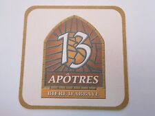 Beer Coaster Sous-Bock ~**~ 13 Apôtres (13 Apostles) Biere D'Abbaye, Blanche Ale