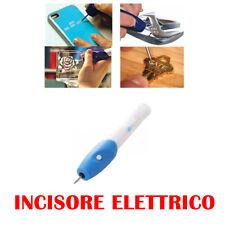 Fresa Elettrico Penna Incisore Incidere Metalli Vetro Incisioni Legno Engrave ty
