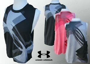Ladies Under Armour UA Logo Training Vest Sleeveless Top Workout Yoga S M L XL