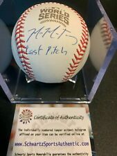 """Mike Montgomery Chicago Cubs autographed Inscribed """"Last Pitch"""" 2016 World Serie"""