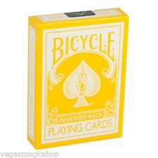 Yellow Reversed Back Deck Bicycle Playing Cards Poker Size USPCC + Magic Tricks