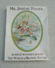 20 Piece Mr Jeremy Fisher Wooden Jigsaw Puzzle Beatrix Potter 1985 M Stanfield