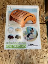 KidKraft Adjustable Wood Stool for Nursing w/ Anti Slip Pads - Cherry  S1