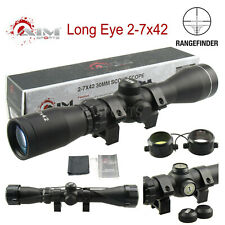 Aim Sports Long Eye Relief 2-7x42 Rangefinder Scope w/ Rings