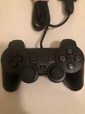 BLACK Sony Playstation 2 PS2 Dualshock Controller OEM (SCPH-10010) - TESTED!