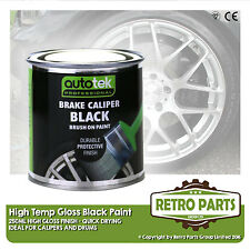 Black Caliper Brake Drum Paint for Fiat Seicento. High Gloss Quick Dying
