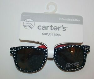 New Carter's Girls Boys Infant 0-24m Sunglasses 100% UVA-UVB Classic July 4th