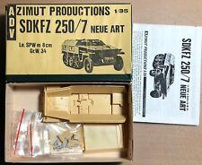 ADV AZIMUT PRODUCTION - SDKFZ 250/7 NEU ART Le.SPW m 8cm Gr.W.34 1/35 RESIN KIT